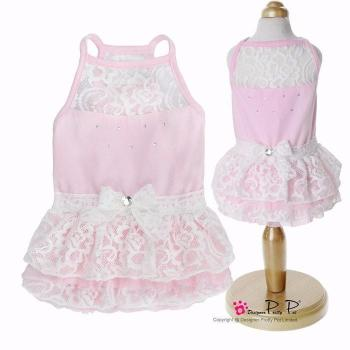Clearance - Pretty Pet Lace Dress (Pink)
