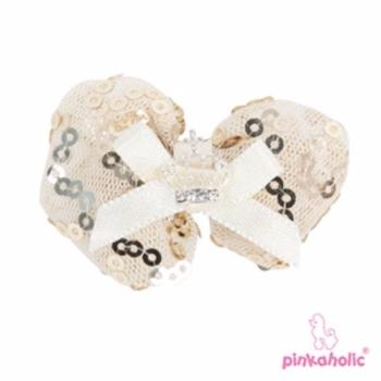 Clearance - Pinkaholic Riley Dog Hair Bow - Beige-High Society Canine-High Society Canine