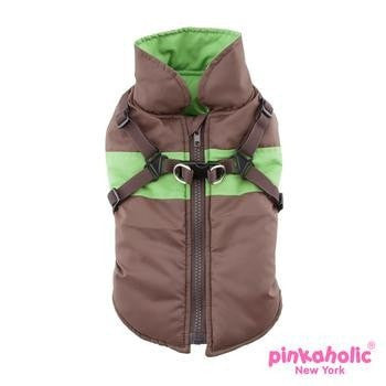 Aiden Dog Vest by Pinkaholic - Brown