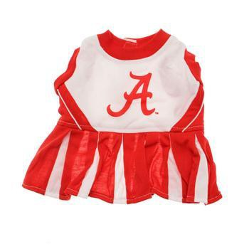 Alabama Crimson Tide Cheerleader Dog Dress-NCAA Dogs,Pets First-High Society Canine