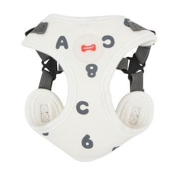 Algo Adjustable Step-In Dog Harness by Puppia - White-Puppia-High Society Canine