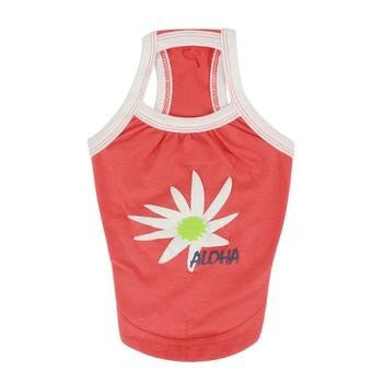 Aloha Dog Tank by Puppia - Orange/Red