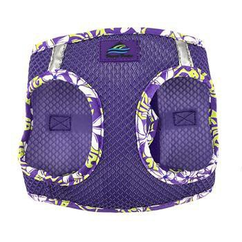 American River Choke Free Harness Hawaiian Trim - Paisley Purple-Doggie Design-High Society Canine