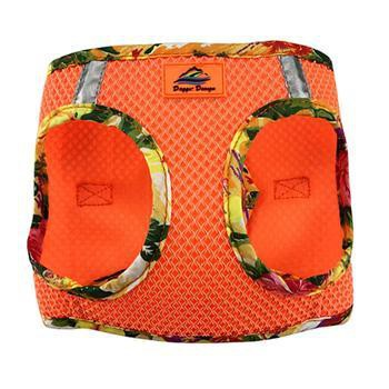 American River Hawaiian Trim Choke-Free Dog Harness by Doggie Design - Sunset Orange-Doggie Design-High Society Canine