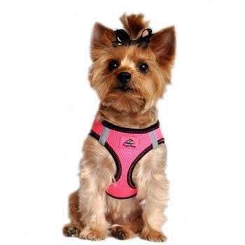 American River Top Stitch Dog Harness - Iridescent Pink-Doggie Design-High Society Canine