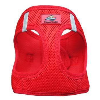 American River Ultra Choke-Free Mesh Dog Harness by Doggie Design - Red