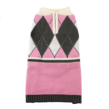 Argyle Dog Sweater by Hip Doggie - Pink-Hip Doggie-High Society Canine