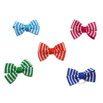 Aria Candy Stripe Dog Bows-Aria-High Society Canine