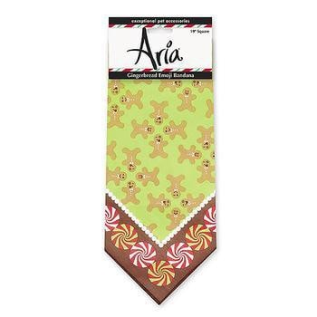Aria Gingerbread Emoji Dog Bandana-Aria-High Society Canine