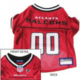 Atlanta Falcons Officially Licensed Dog Jersey - Red-NFL Dogs,Pets First-High Society Canine