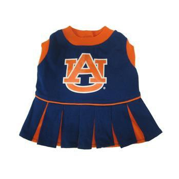 Auburn Tigers Cheerleader Dog Dress-NCAA Dogs,Pets First-High Society Canine