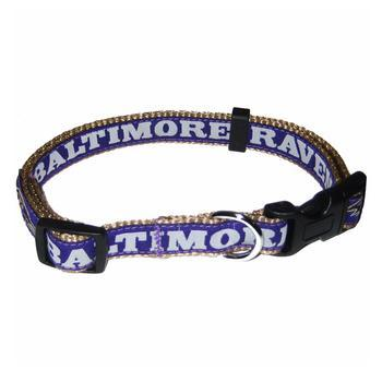Baltimore Ravens Officially Licensed Dog Collar-NFL Dogs,Pets First-High Society Canine