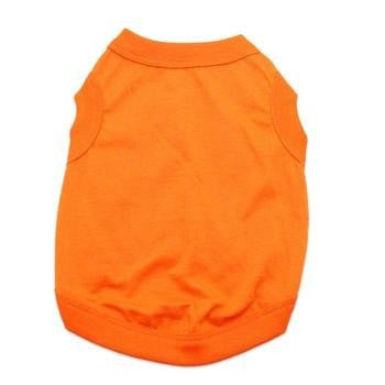 Barking Basics Dog Tank Shirt - Orange-Barking Basics-High Society Canine