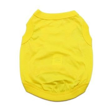 Barking Basics Dog Tank Shirt - Yellow-Barking Basics-High Society Canine