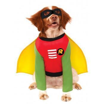 Batmans Robin Dog Halloween Costume-Rubies Costumes-High Society Canine