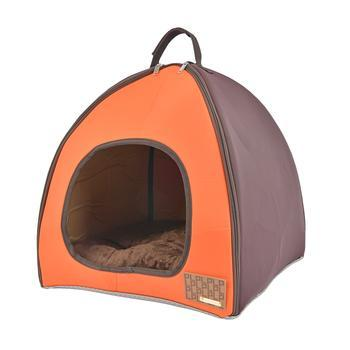 Berg House Dog Bed By Puppia Life - Orange-Puppia Life-High Society Canine