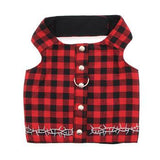 Biker Vest Dog Harness by Doggles - Buffalo Plaid-Doggles-High Society Canine