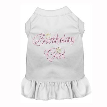 Birthday Girl Rhinestone Dog Dress - White-Mirage-High Society Canine