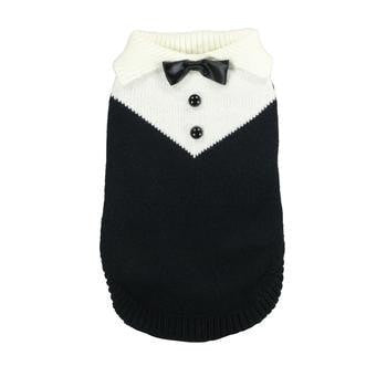 Black Tux Dog Sweater by Hip Doggie