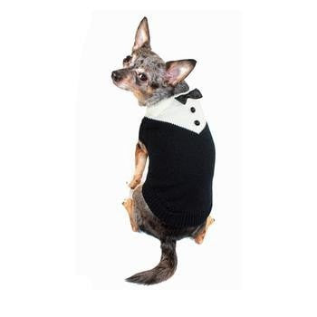 Black Tux Dog Sweater by Hip Doggie-Hip Doggie-High Society Canine