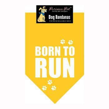 Born To Run Dog Bandana - Yellow