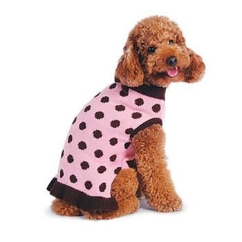 Bubble Dot Dog Sweater Dress by Dogo - Pink-DOGO-High Society Canine