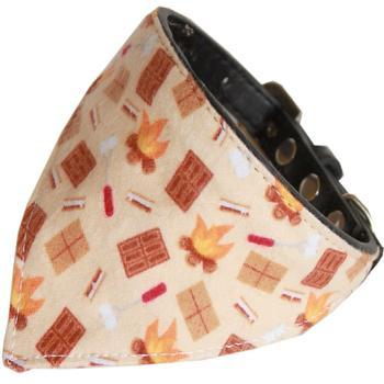 Campfire Bandana Dog Collar - Black