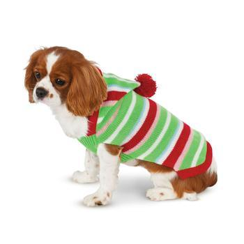 Candy Striped Christmas Dog Sweater by Rubies