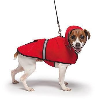 Casual Canine Reflective Hooded Dog Jacket - Red-Casual Canine-High Society Canine