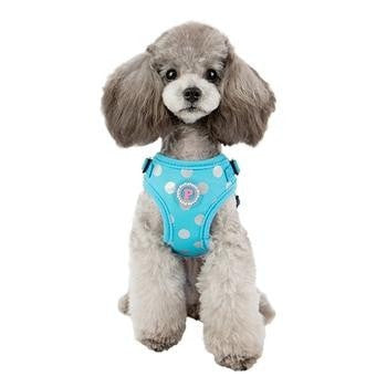 Chic Step-In Adjustable Dog Harness by Pinkaholic - Blue-Pinkaholic-High Society Canine