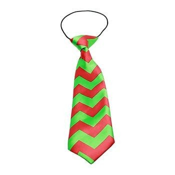 Christmas Chevron Big Dog Neck Tie-Mirage-High Society Canine
