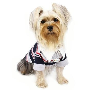 Classic Stripes Polo Dog Shirt - 4-Colors-Klippo-High Society Canine