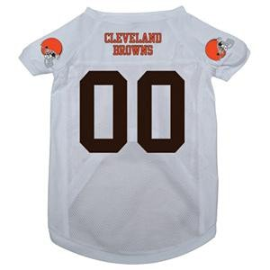 Cleveland Browns Dog Jersey - White-NFL Dogs-High Society Canine 0d29debfb