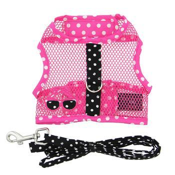 Cool Mesh Dog Harness Under the Sea Collection - Pink and Black Polka Dot Sunglasses-Doggie Design-High Society Canine