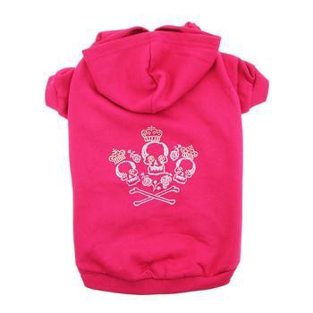 Crowned Crossbones Hoodies - Raspberry Sorbet-Zack and Zoey-High Society Canine