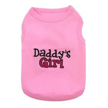 Daddys Girl Dog Tank by Parisian Pet - Pink-Parisian Pet-High Society Canine