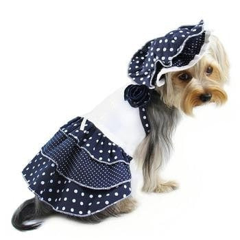 Dazzling Dots Sun Dress with Hat-Klippo-High Society Canine