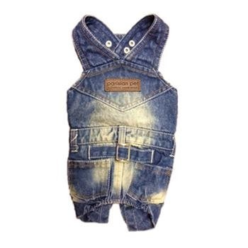 Denim Dog Overalls by Parisian Pet-Parisian Pet-High Society Canine