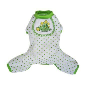 Dino Dog Pajamas - Green-Pooch Outfitters-High Society Canine