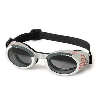 Doggles - ILS2 Silver Skull Frame with Light Smoke Lens-Doggles-High Society Canine