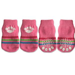 Doggy Socks - Pink with White Paw Print-Doggy Style Design-High Society Canine