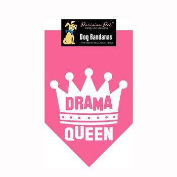 Drama Queen Dog Bandana - Pink-Parisian Pet-High Society Canine