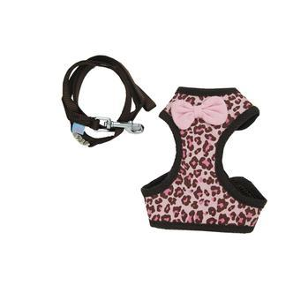 EasyGo Leopard Dog Harness by Dogo - Pink-DOGO-High Society Canine