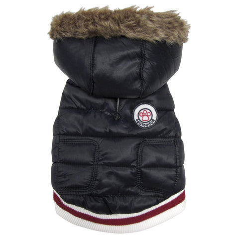 Expedition Parka Dog Coat - Black-foufou Dog-High Society Canine