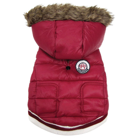 Expedition Parka Dog Coat - Red-foufou Dog-High Society Canine