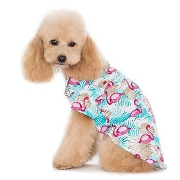 Flamingo Island Dog Shirt by Dogo