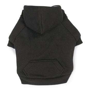 Fleece Lined Dog Hoodie by Zack & Zoey - Black-Zack and Zoey-High Society Canine