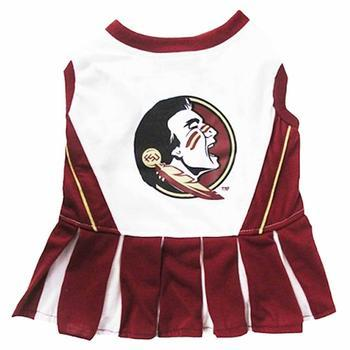 Florida State Seminoles Cheerleader Dog Dress-NCAA Dogs,Pets First-High Society Canine