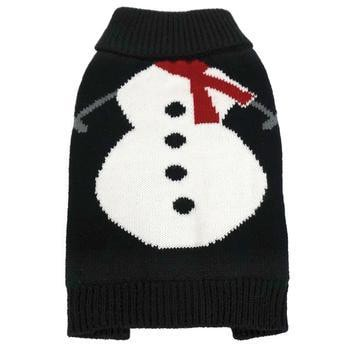 FouFou Dog Ugly Christmas Dog Sweater - White Snowman