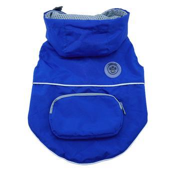 foufou Dog Rainy Day Dog Poncho with Built-in Travel Pouch - Blue-foufou Dog-High Society Canine